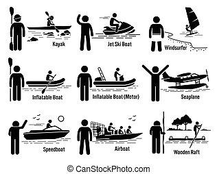 ricreativo, acqua mare, veicoli