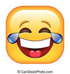 ridere, emoticon