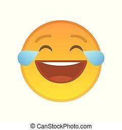 ridere, gioia, emoticon, pianto