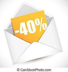 riduzione, percento, 40