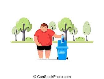 rifiuti, environment., proteggere, smistamento