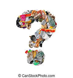 rifiuti, fatto, marchio, domanda