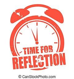 riflessione, tempo