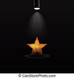 riflettore, stella, elettrico