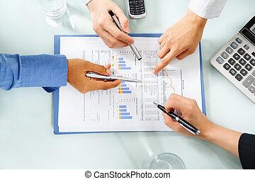 rimbombando, esaminare, economico, persone, statistico