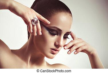 ring., donna, moda, gioielleria
