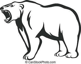 ringhiare, orso