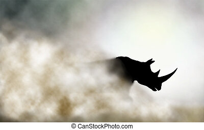 rinoceronte addebita