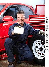 riparazione, auto