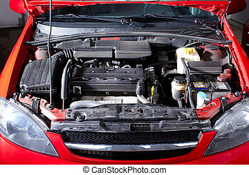 riparazione automobile, auto, shop.