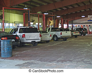 riparazione, garag, baie, servizio, auto