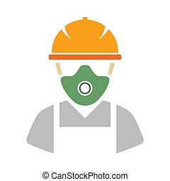 riparazione, icona, lavoratore