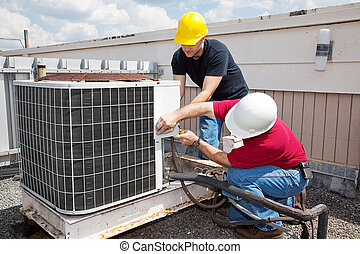 riparazione, industriale, condizionamento, aria