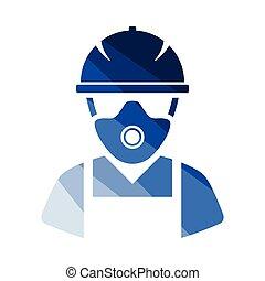 riparazione, lavoratore, icona