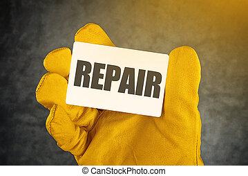riparazione, scheda affari