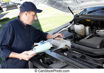 riparazione, service., lavorativo, meccanico automobilistico, automobile