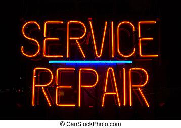 riparazione, servizio, segno