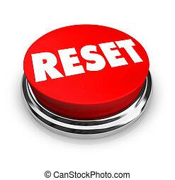 risistemazione, bottone, -, rosso