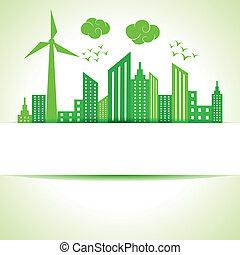 risparmiare, concept-, ecologia, natura