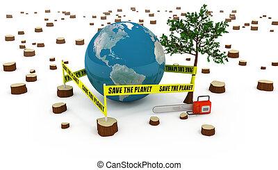 risparmiare, concetto, pianeta