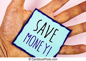 risparmiare, foto, testo, esposizione, motivazionale, ridurre, segno, fondo, spese, guadagni, soldi, concettuale, call., fare