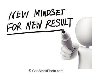 risultati, scritto, uomo, nuovo, mindset, 3d