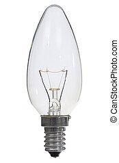 ritaglio, ardendo, lampada, fondo, percorso, bianco