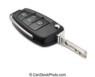 ritaglio, automobile, poco profondo, dof, chiave, percorso