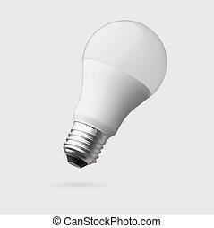 ritaglio, condotto, isolato, lampada, bulbo, percorso