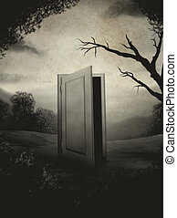 ritratto, porta