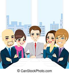 riunione, businesspeople, ufficio