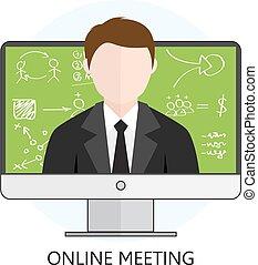 riunione linea, concetto
