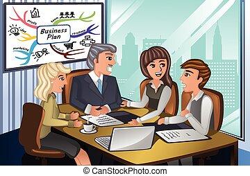 riunione, persone affari