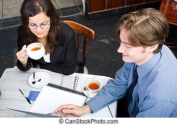 riunione pranzo, affari