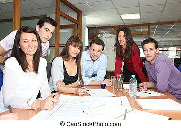 riunione, squadra ufficio