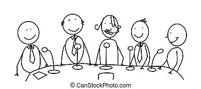 riunione, squadra