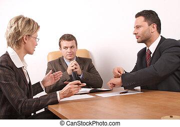riunione, tre persone