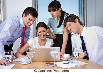 riunione, ufficio affari