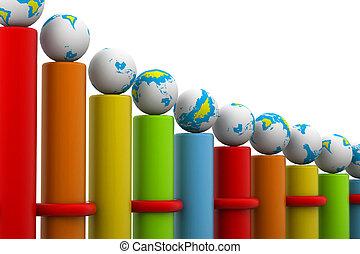 riuscito, carbonizzare, globale, sbarra, affari
