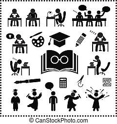 riuscito, studio, simbolo
