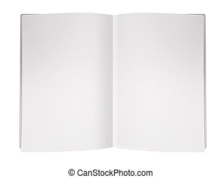 rivista, pagina, vuoto