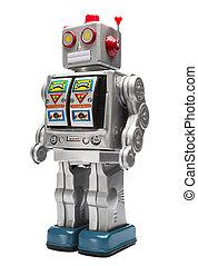 robot giocattolo, stagno