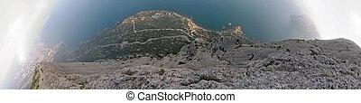 roccia, mondo, verticale