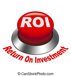 roi, investment), bottone, illustrazione, (return, 3d