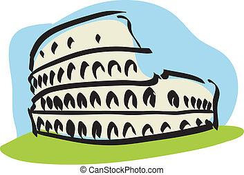 roma, (colosseum)