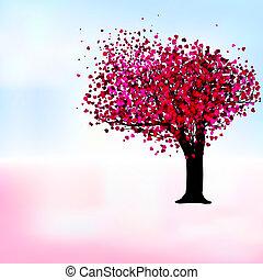 romantico, eps, albero, passione, sagoma, 8, card.