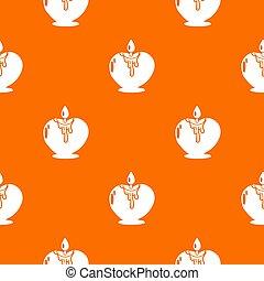 romanza, candela, modello, arancia