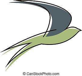 rondine, uccello volante