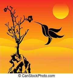 ronzio, uccello volante
