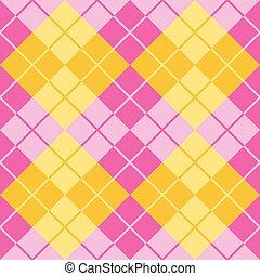 rosa, argyle, giallo
